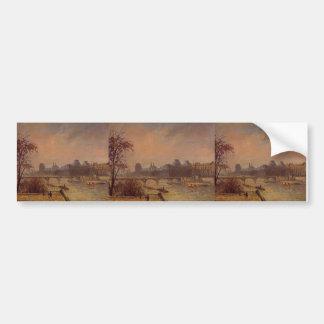 Camille Pissarro- The Seine and the Louvre Paris Bumper Stickers