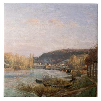 Camille Pissarro - The Seine at Bougival Ceramic Tile