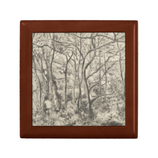 Camille Pissarro - The Woods at L'Hermitage Jewelry Box