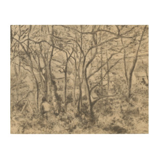 Camille Pissarro - The Woods at L'Hermitage Wood Wall Decor