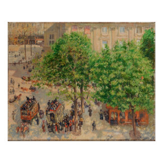 Camille Pissarro Theatre French Place 1898 Spring Poster