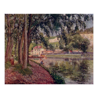 Camille Pissarro - Towpath Tow Path 1902 Tree Lake Poster