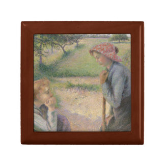 Camille Pissarro - Two Young Peasant Women Keepsake Box