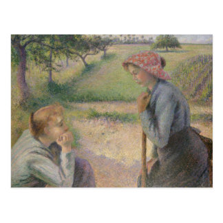 Camille Pissarro - Two Young Peasant Women Postcard