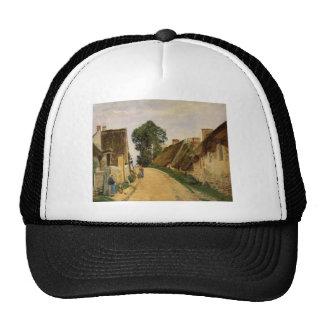 Camille Pissarro- Village Street, Auvers-sur-Oise Hats