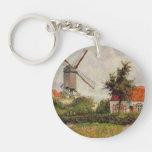 Camille Pissarro- Windmill at Knokke, Belgium Keychain