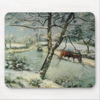 Camille Pissarro- Winter at Montfoucault Mouse Pad