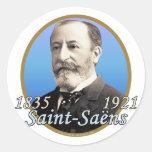 Camille Saint-Saens Round Sticker