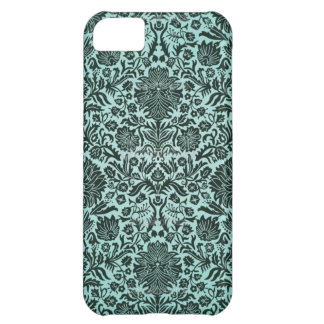 """""""Camille"""" Vintage Wall Paper Blue Cover For iPhone 5C"""