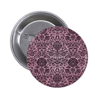 """""""Camille"""" Wall Paper Pink Pinback Button"""