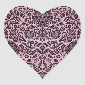 """Camille"" Wall Paper Pink Heart Sticker"