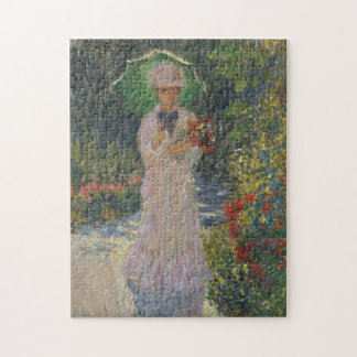 Camille with Green Parasol Monet Fine Art Puzzle