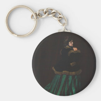 Camille (Woman in the Green Dress) by Claude Monet Keychain