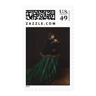 Camille (Woman in the Green Dress) by Claude Monet Postage