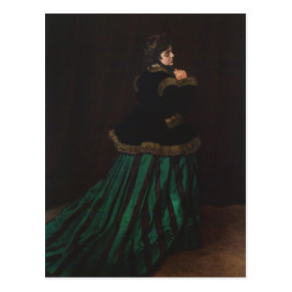 Camille (Woman in the Green Dress) by Claude Monet Post Card