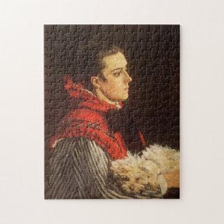 Camilo con la pequeña bella arte de Monet del Puzzles
