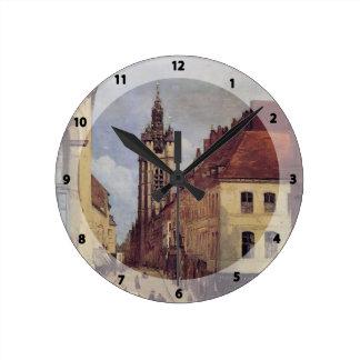 Camilo Corot- el campanario de Douai Reloj De Pared
