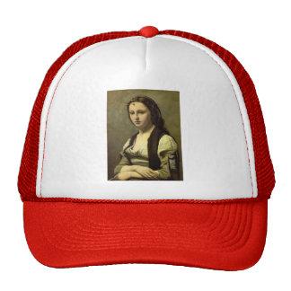 Camilo Corot- la mujer con una perla Gorras