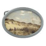 Camilo Corot- una duna en Dunkerque Hebillas De Cinturón