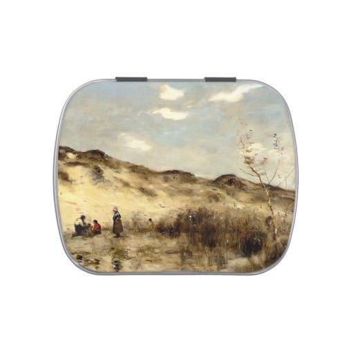 Camilo Corot- una duna en Dunkerque Jarrones De Caramelos