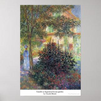 Camilo en el jardín Claude Monet de la casa de Arg Impresiones
