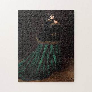 Camilo en la bella arte verde de Monet del vestido Rompecabezas Con Fotos