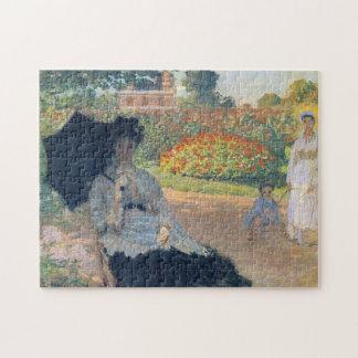 Camilo Monet en bella arte de Monet del jardín Puzzles Con Fotos