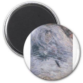 Camilo Monet en su lecho de muerte (1879) Imán Redondo 5 Cm