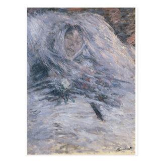 Camilo Monet en su lecho de muerte (1879) Postal