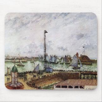 Camilo Pissarro- el embarcadero del piloto, Le Hav Alfombrilla De Ratones