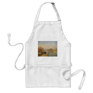 Camilo Pissarro- el Louvre, mañana, Sun Delantales