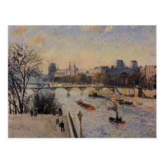 Camilo Pissarro- el Louvre Tarjeta Postal
