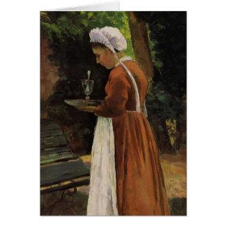 Camilo Pissarro- el Maidservant Tarjeta De Felicitación