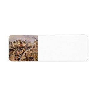 Camilo Pissarro- el Pont Neuf, tarde lluviosa Etiqueta De Remite
