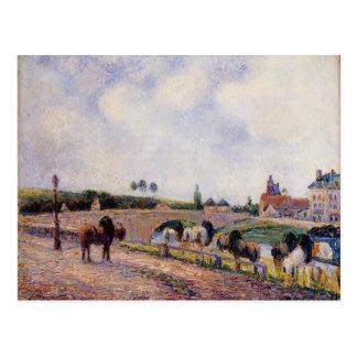 Camilo Pissarro- el puente de Pontoise Tarjeta Postal