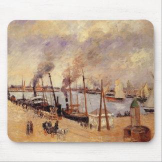 Camilo Pissarro- el puerto de Le Havre 2 Alfombrilla De Raton