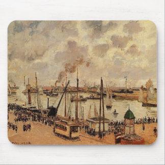 Camilo Pissarro- el puerto de Le Havre Alfombrilla De Ratón