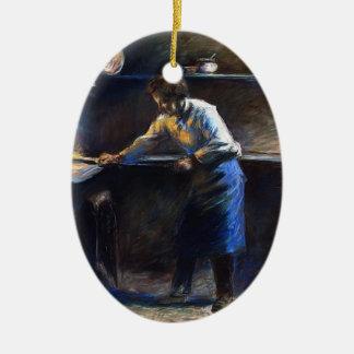 Camilo Pissarro- Eugene Murer en su horno de los Adorno Ovalado De Cerámica
