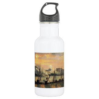 Camilo Pissarro- Quay en la puesta del sol de Ruán