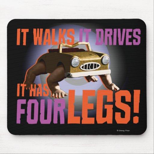 ¡Camina él lo conduce tiene cuatro piernas! Tapete De Raton