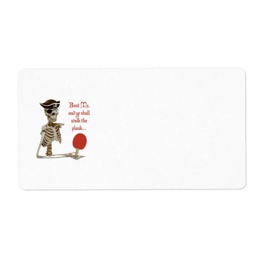 Camina el ping-pong del tablón etiqueta de envío