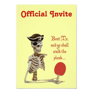 Camina el ping-pong del tablón invitaciones personales