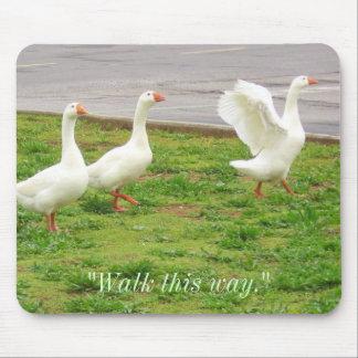 """Camina esta manera"" (los gansos) Tapetes De Raton"
