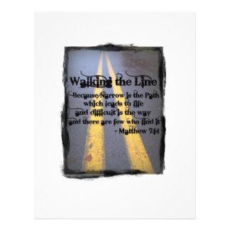 Camina la línea flyer personalizado