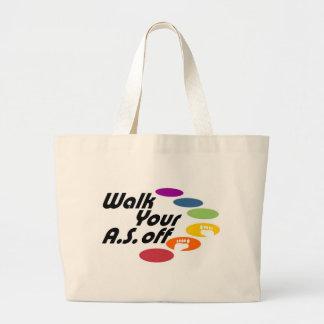 Camina su A.S. Off - logotipo solamente Bolsa Lienzo