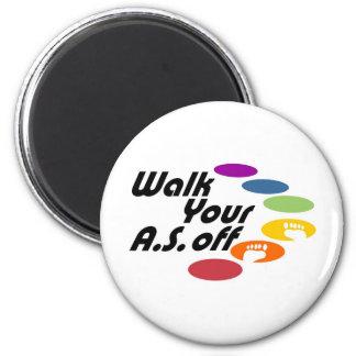 Camina su A.S. Off - logotipo solamente Imán Para Frigorífico