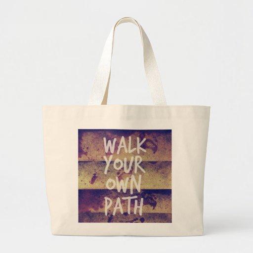 Camina su propia trayectoria bolsas de mano