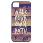 Camina su propia trayectoria iPhone 5 Case-Mate cobertura