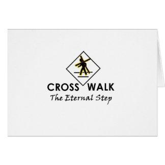 Caminan con Jesús - los artículos de la oficina y  Tarjeta De Felicitación