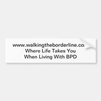 Caminando el pegatina de la frontera etiqueta de parachoque